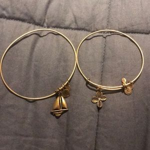 Gold Alex and Ani bracelets